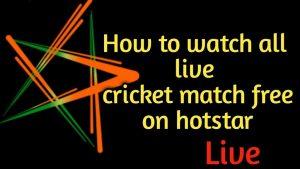 live free cricket on hotstar